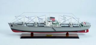 M.  S.  Skaubo Cargo Ship - Handcrafted Wooden Ship Model photo
