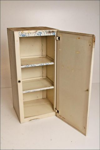 Vtg Metal Cabinet Bathroom Kitchen Medicine Shabby Storage Cupboard White Chic 3 photo