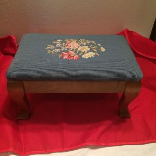 Vintage Embroidered Foot Rest photo
