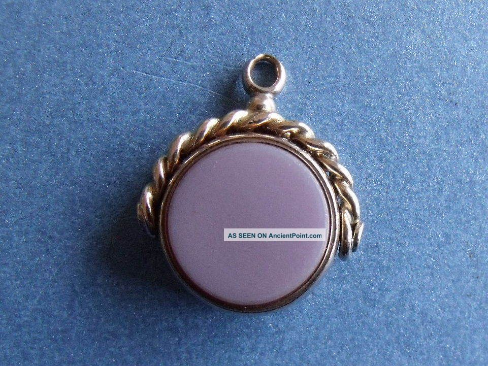 Antique 9ct Gold Bloodstone Swivel Pocket Watch Fob H/m 1882 Pocket Watches/ Chains/ Fobs photo