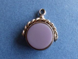 Antique 9ct Gold Bloodstone Swivel Pocket Watch Fob H/m 1882 photo