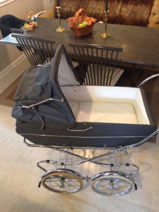 Vintage Italian Peg Perego Pram Baby Carriage & Stroller Combination photo