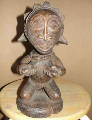 Very Old Africa Chokwe Tribal Female Statue Figure Yaka Hemba Angola African Art photo