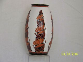 Charles Catteau Art Deco C1925 Boch Freres La Louviere Belgium Art Pottery photo