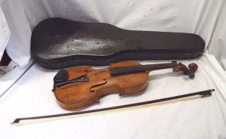 Old Antonius Stradivarius Special Model Flame Back Full Size 4/4 Violin W/ Bow photo