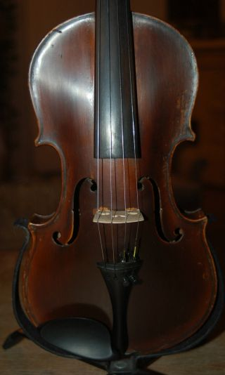 Antique Handmade German 3/4 Violin With Case - 1900 ' S photo