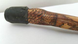 Aboriginal Natural Pokerwork Walking Stick - Snake photo
