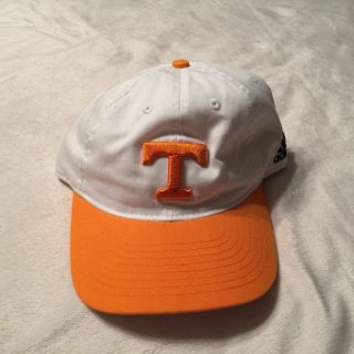 Adidas Tennessee Volunteers Adjustable Baseball Hat White Orange Nwt photo