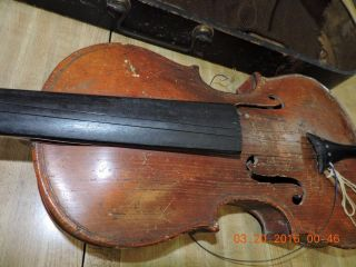 Antique Jacobus Stainer Absam Prope Oenipontum 1614 Full 4/4 Signed Back Violin photo