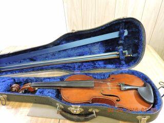Antique Grand Solo 4/4 Flame Back Violin No 901 Anno1913 Elias Howe Boston W/bow photo