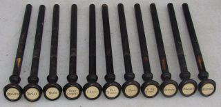11 Wood Stop Pulls Knobs From Antique Farrand Votey Pump Organ Repurpose Crafts photo