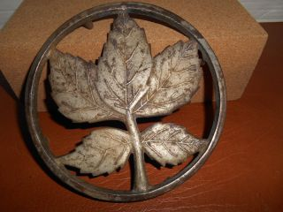 Antique Ober Metal Leaf Pattern Trivet,  Marked photo