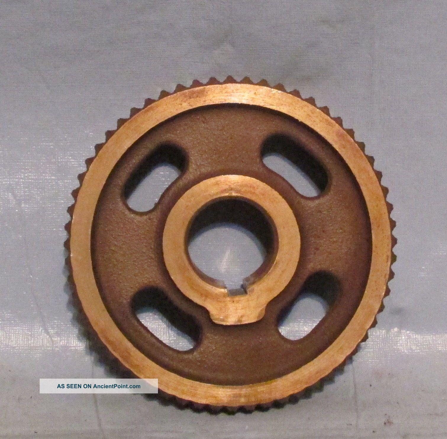 Vintage Industrial Machine Age Brass Cog// Gear Lamp Piece Steampunk Art