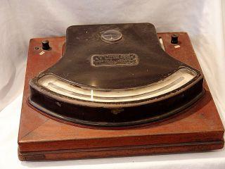 Antique D.  C.  Millivoltmeter Model 5 Weston Laboratory Standard.  1795 Circa 1890 photo