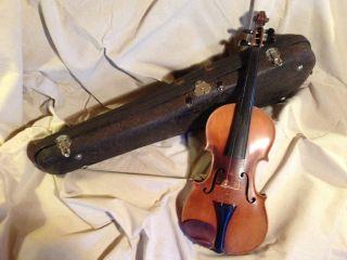 Antique Vintage Antonius Stradiuarius Stradivarius Violin Made In Germany photo