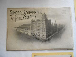 10 View Cards Of Philadelphia - Singer Sewing Machine Souvenirs - 1909 photo