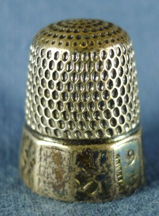 Lovely Engraved Sterling Silver Sewing Thimble,  Size 9,  6 Grams photo