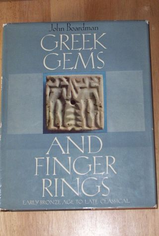 Greek Gems And Finger Ring By John Boardman Rare 1st Printing Huge Hardback 1970 photo