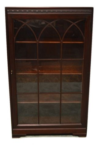 Vintage One Door Bookcase photo