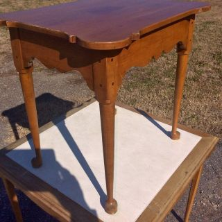 Vintage Butternut Top Table Ethan Allen Maple One Drawer Nite Stand Slipper Foot photo