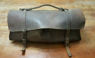 Antique Leather Doctors Tool Duffel Bag M.  Klein & Sons Chicago Il Usa photo