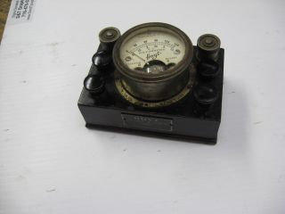 Vintage Hoyt 5 Selectable Range Voltmeter Ammeter Steampunk 1920s 100 photo