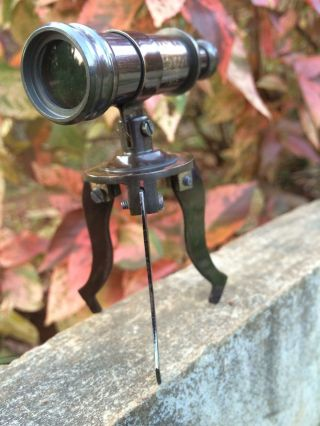 Gorgeous Antiquated Brass Tiny Stand Telescope Vintage Style Decor Item photo