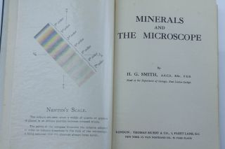 Minerals And The Microscope - Hg Smith 1933 photo
