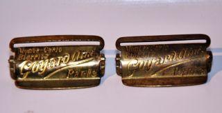 Authentic Goyard Aine Paris Brass Buckles From Steamer Trunk 1910 - 20 photo