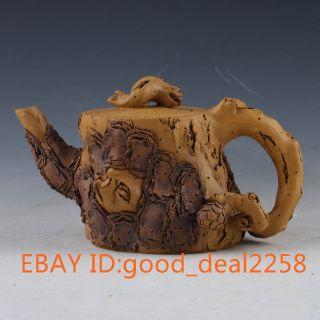 Chinese Yixing Zisha Handmade Carved Lady Beetle Teapot & Lid 972 photo