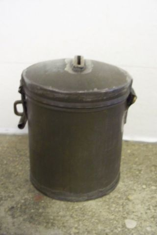 Primitive Antique Tin? Steel? Vintage Can Bank Hand Made Lock Box photo