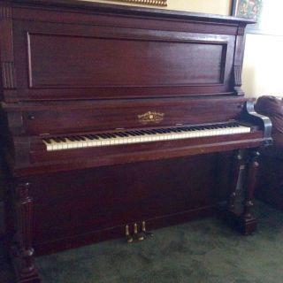 Knight Brinkerhoff 1874 Upright Piano Mahogony Restored 1985 Pianotuner Said Vg photo