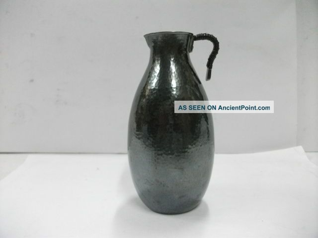 Japanese Sake.  One Silver Decanter.  90g/ 3.  18oz.  A Japanese Antique. Bottles, Decanters & Flasks photo