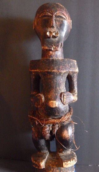 Very Old And Weathered Songye Magical Figure Drc 20 Inches High Provenance photo