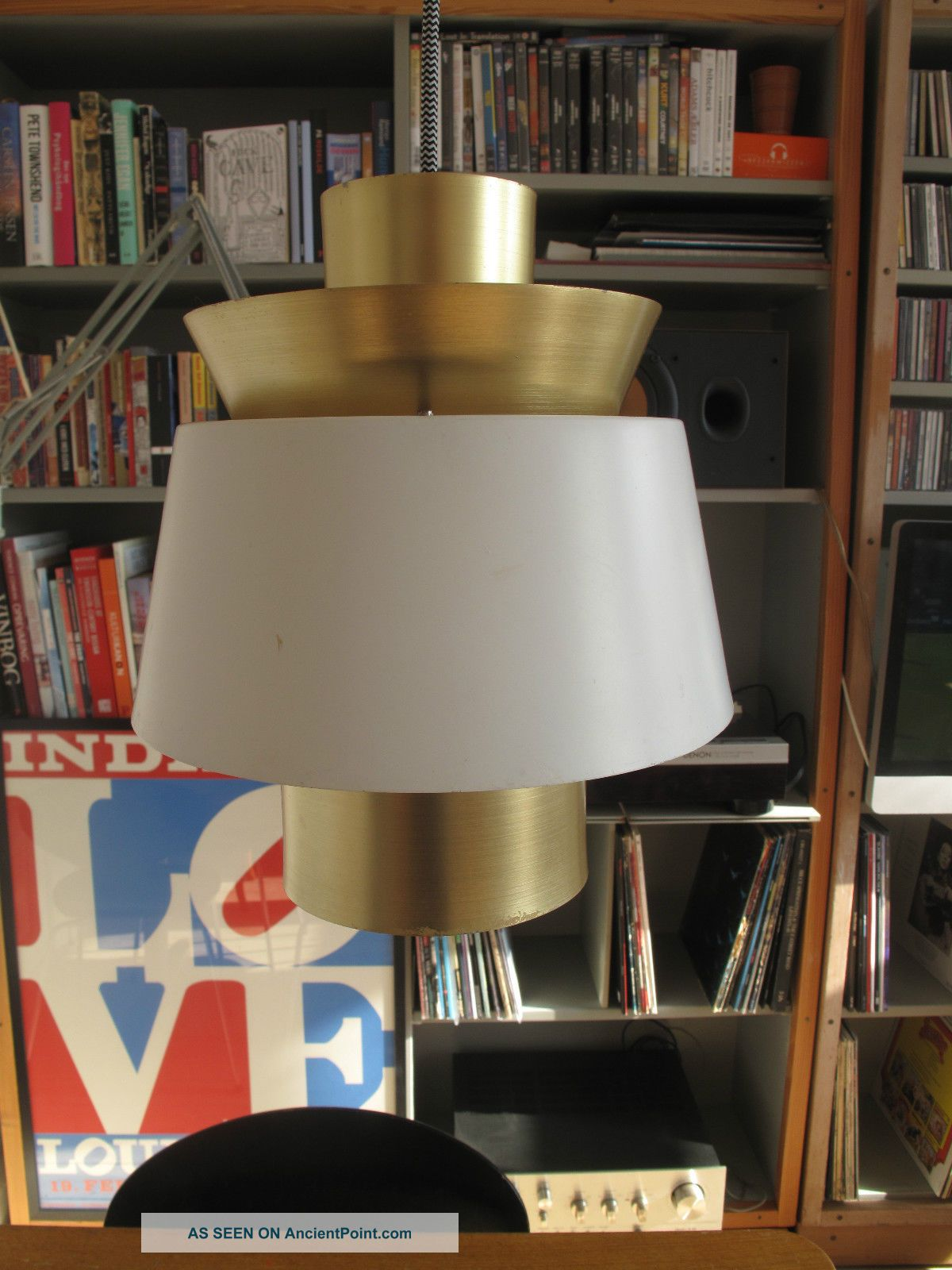 1940 ' S Tivoli Lamp JØrn Utzon Nordisk Solar Mid Century Modern Danish Large 20th Century photo