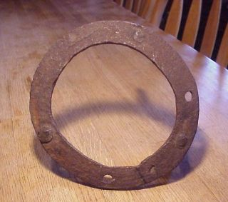 Hand Fashioned Cast Iron Trivet.  18th Century photo