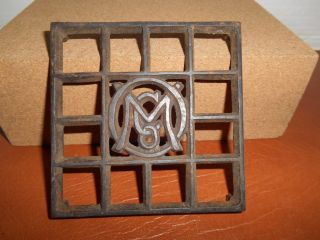 Antique Ober Metal Trivet With Ober Logo In The Center photo