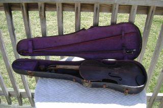Stradivarius Cremonensis Faciebat Anno 1766 Violin Made In Germany Parts/fix photo