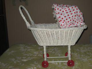 Vintage Wicker Babydoll Stroller/carriage photo