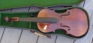 Antique Full Size 4/4 Fine Violin In Case For Repair photo