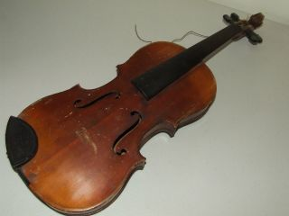 Antique 19th C.  German Violin Tiger Maple With Ebony Fingerboard Germany photo