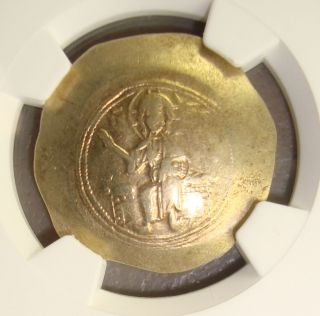 Ad 1078 - 81 Nicephorus Iii Ancient Byzantine Electrum Histamenon Nomisma Ngc Vf photo