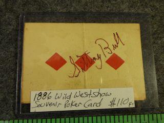 Sitting Bull Signed Poker Card Shot Card Souvenir Pony Express Stamp 1882 photo