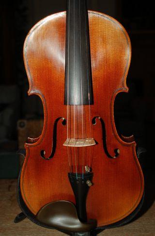 Antique Handmade German 4/4 Violin - Label Raffaele En Antonio Gagliano photo