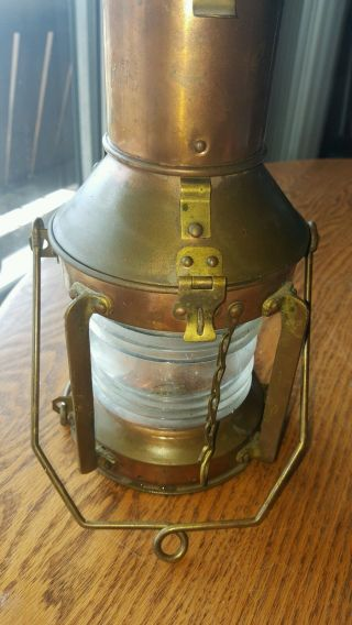 Vintage Brass Ships Nautical Lantern Hanging Lantern photo