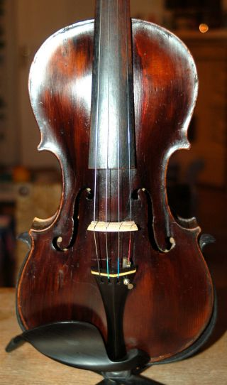 Antique Handmade German 4/4 Fullsize Violin - Stainer Copy Over 100 Years Old photo