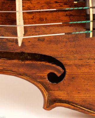 Antique 4/4 Violin For 17 - 18th Century L.  Et.  Carcassi 1749 Old Violon Geige photo
