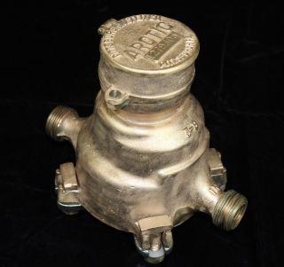 Vintage Industrial Steampunk Arctic Pittsburgh Meter Co.  Water Meter 5 - 8 photo
