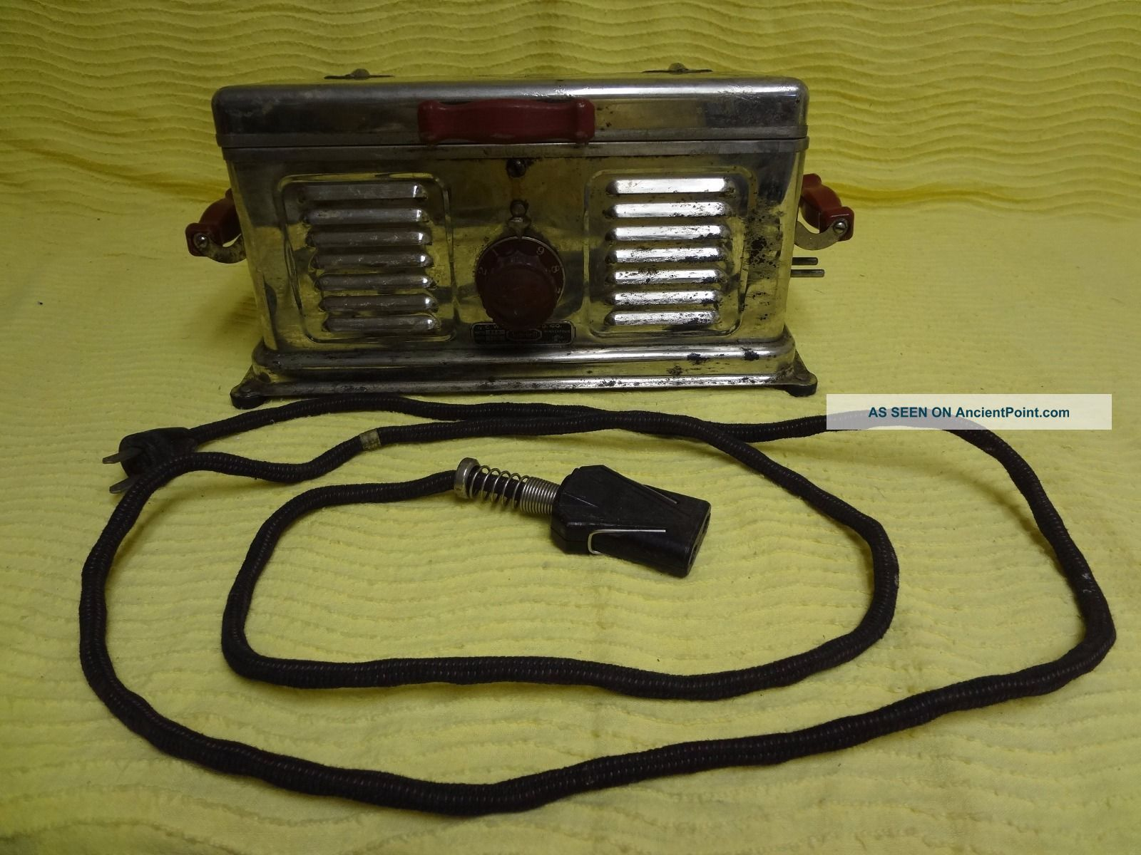 Vintage 1920 ' S C.  W.  Carter Mfg Co Electric Auto Grill For Bacon Red Handled Toasters photo