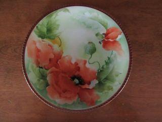 Richard Ginori Hand Painted Decorative Flower Plate Gold Edge 8.  5
